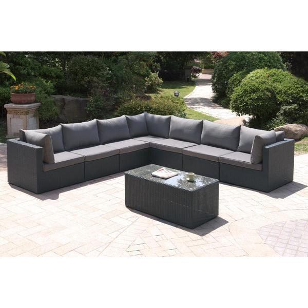 Bolinas Candid Dark Brown/ Tan 8-piece Patio Set