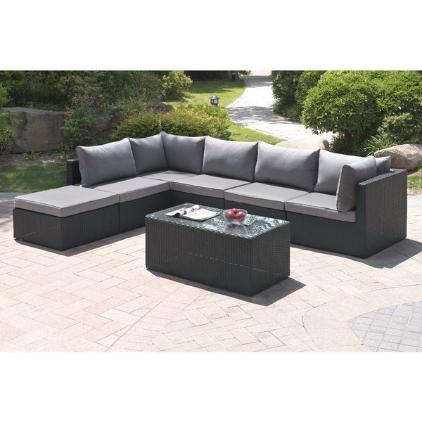 Bolinas Candid Dark Brown/ Tan 7-piece Patio Set