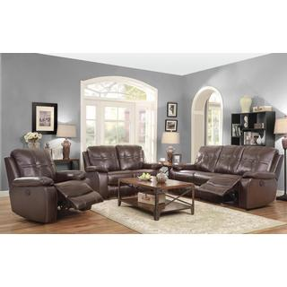 Demetrius 3-piece Brown Living Room Set