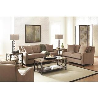 Mabel 3-piece Taupe Living Room Set