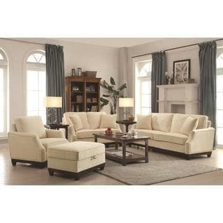 Azaiah Living Charcoal, Beige Room Set