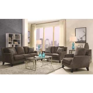 Hansen 3-piece Grey Living Room Set