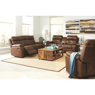 Barrick 3-piece Brown Living Room Set