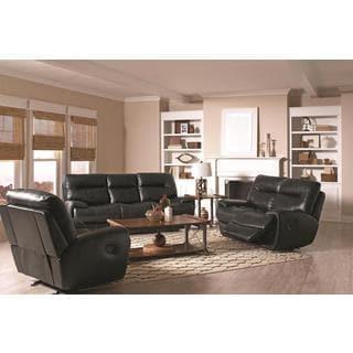 Bridgette 3-piece Black Living Room Set
