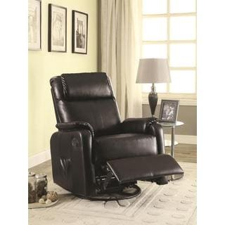 Red Bonded Leather Recliner 14072581 Overstock Com