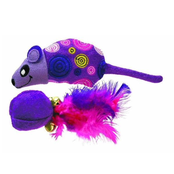 KONG Tropics Mouse/ Ball (2 Pack)