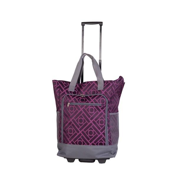 American Flyer Purple Graphic Super Shopper