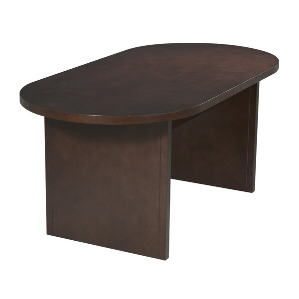6' Oval Race Track Mahogany Conference Table