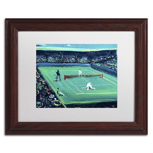 Lowell S.V. Devin 'Grand Slam' White Matte, Wood Framed Wall Art