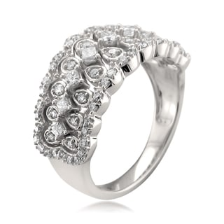14k White Gold 3/4ct TDW Vintage Diamond Right Hand Ring (H-I, I1-I2)