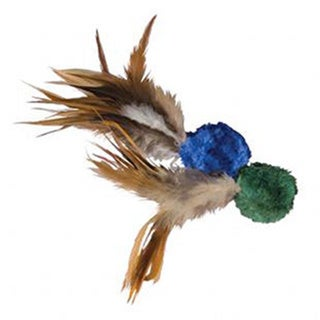 KONG Natural Crinkle Ball with Feathers (2 Pack)