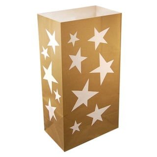 Flame Resistant Stars Luminaria Bags (Pack of 12)