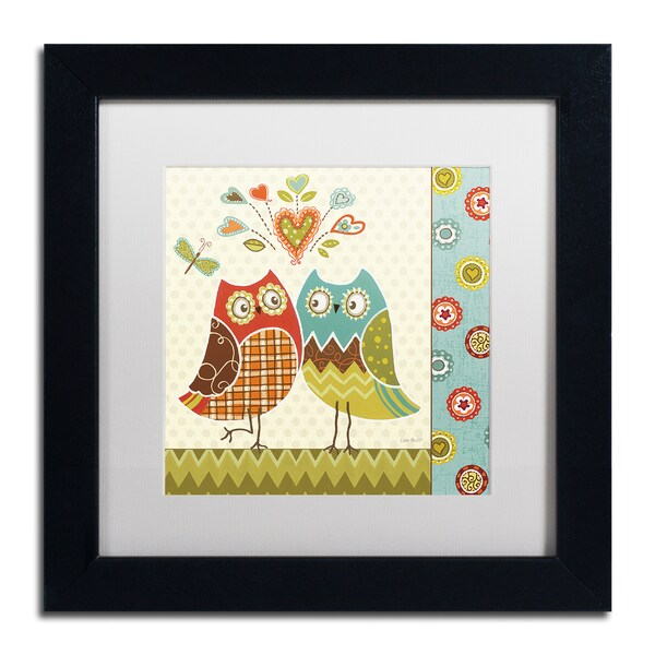 Lisa Audit 'Owl Wonderful II' White Matte, Black Framed Wall Art
