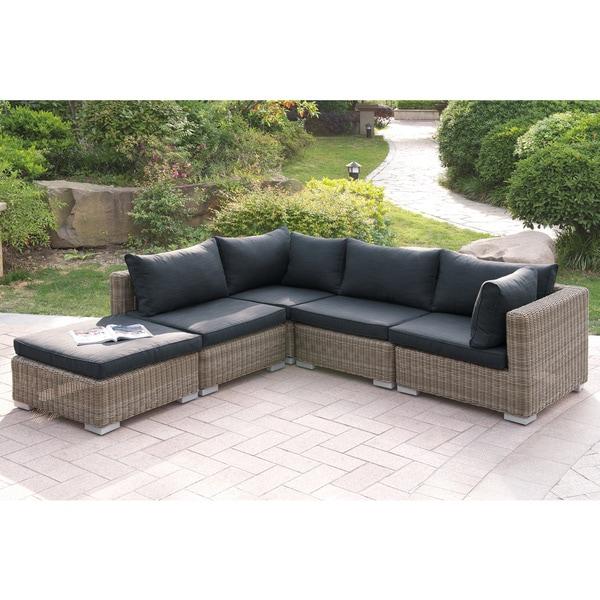 Haivoron 5 piece Patio Sectional Sofa in Tan