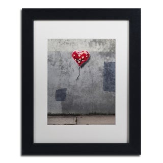 Banksy 'NYC Love' White Matte, Black Framed Wall Art