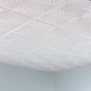 Fasade Typhoon Gloss White 2' x 2' Lay-in Ceiling Tile