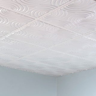 Fasade Typhoon Matte White 2' x 2' Lay-in Ceiling Tile
