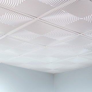 Fasade Echo Gloss White 2' x 2' Lay-in Ceiling Tile