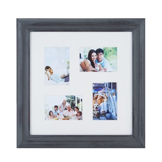 Melannco 4 opening 4x6 6x4 Collage Distressed Gray Picture Frame