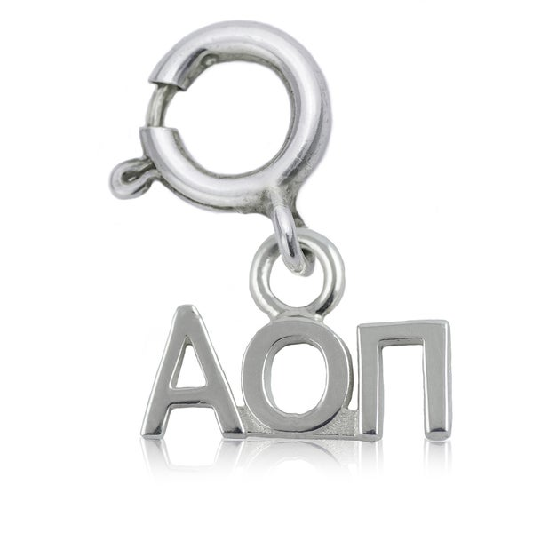Alpha Omicron Pi Sterling Silver Charm
