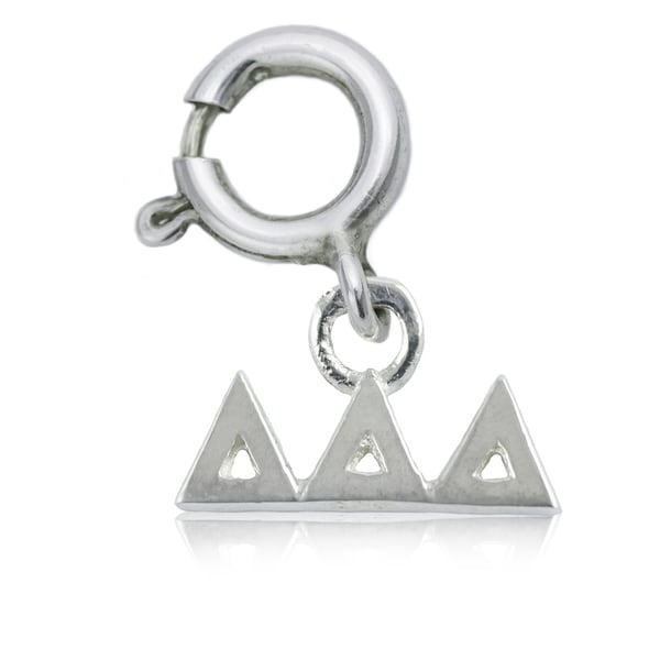 Delta Delta Delta Sterling Silver Charm