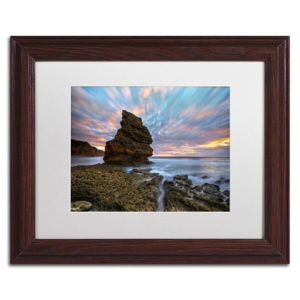Lincoln Harrison 'Monolith HDR' White Matte, Wood Framed Wall Art