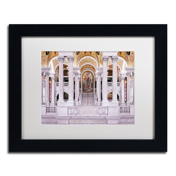 Gregory O'Hanlon 'Library of Congress' White Matte, Black Framed Wall Art