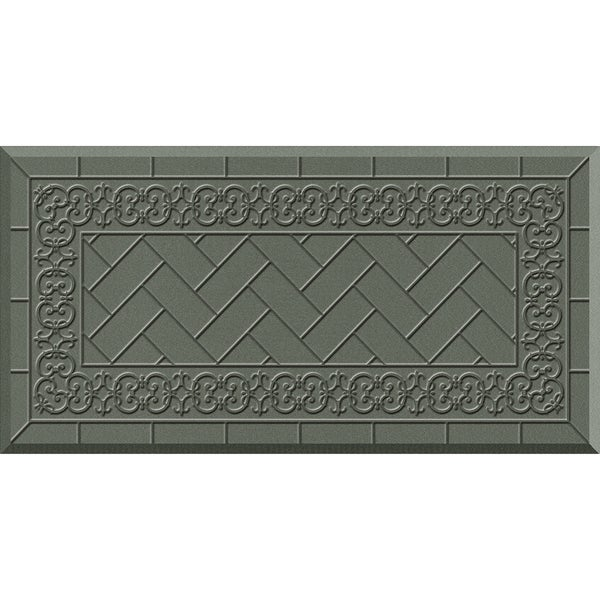 Comfort Mate Backsplash Grey Kitchen Mat (20x39)