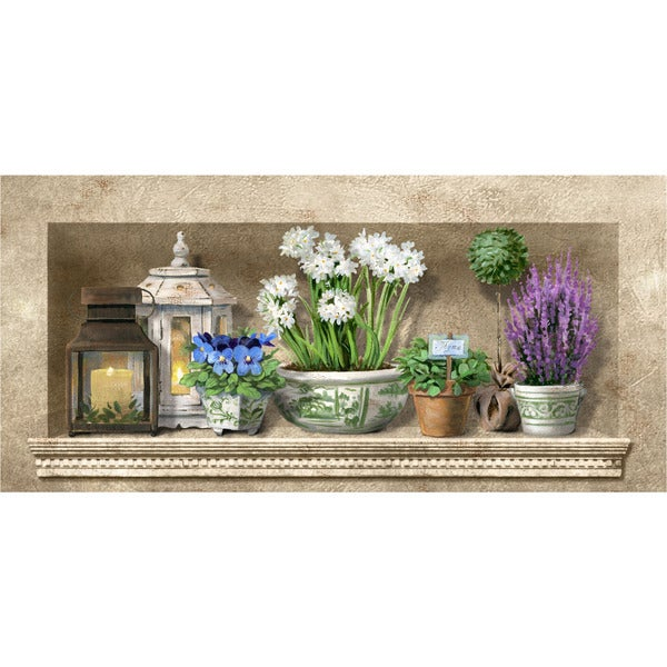 Indoor Herb Floral Kitchen Mat (20x42)