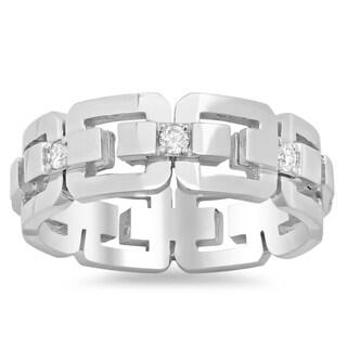 14k White Gold Men's Eternity 1/2ct TDW Diamond Ring (G-H, SI1-SI2)