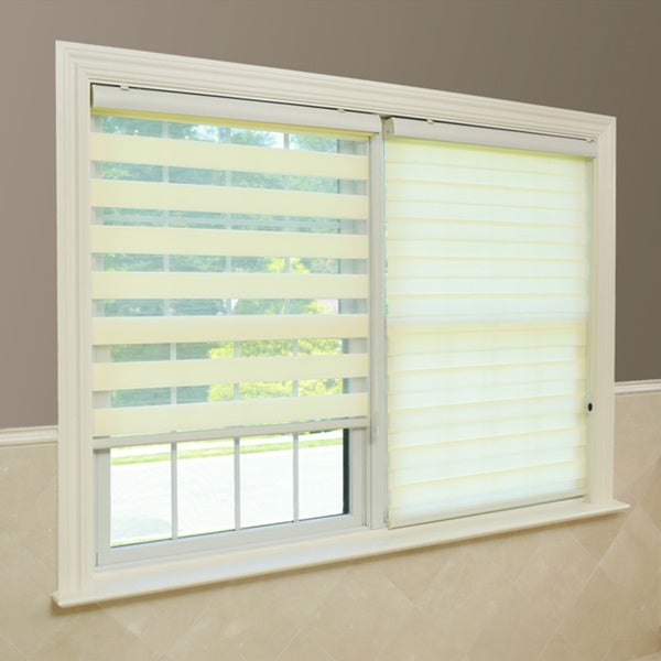 Premium Fabric Look Duo Roller Window Shade - Ivory
