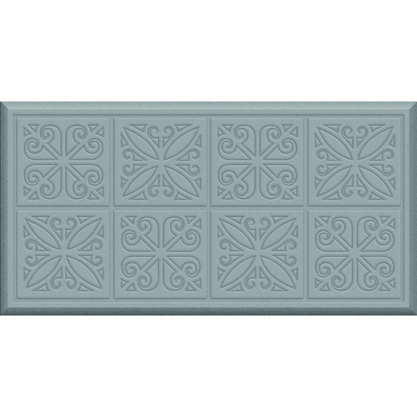 Comfort Mate Tin Panels Steel Grey Kitchen Mat (20x39)