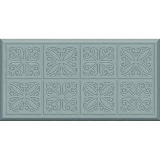 Comfort Mate Tin Panels Steel Grey Kitchen Mat (20x39)