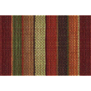 Indoor Chindi Orange Doormat (18x30)
