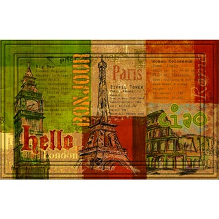 Indoor/Outdoor Hello, Bonjour, Ciao Doormat (18x30)