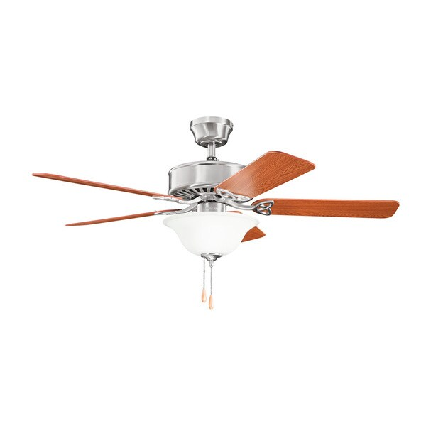 Kichler Lighting Renew Select ES Collection 50-inch Brushed Stainless Steel Ceiling Fan w/Light