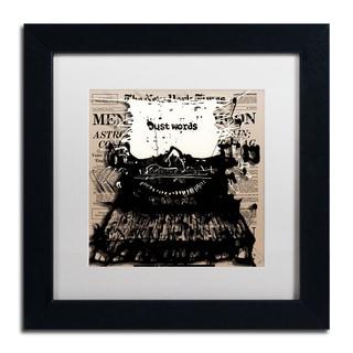 Roderick Stevens 'Just Words 2' White Matte, Black Framed Wall Art