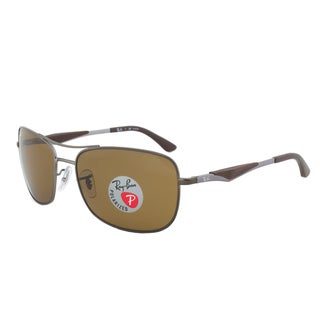 Ray-Ban RB3515 Unisex 029/83 Gunmetal Brown Polarized Sunglasses