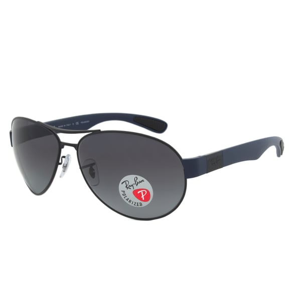 Ray-Ban RB3509 006/T3 Black Blue Aviator Polarized Sunglasses