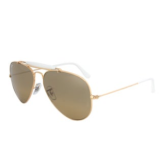 Ray-Ban RB3407 001/3K Outdoorsman Gold Aviator Sunglasses