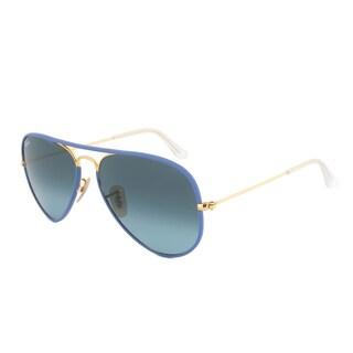 Ray-Ban RB3025JM 001/4M Blue Gold Aviator Sunglasses