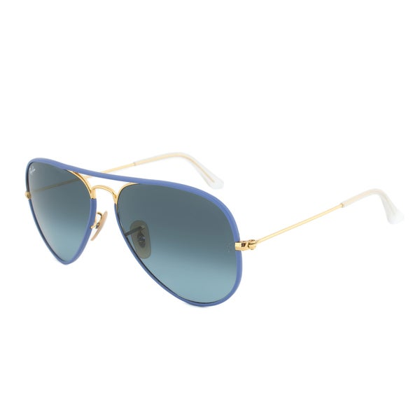 Ray-Ban RB3025JM 001/4M Blue Gold Aviator Sunglasses