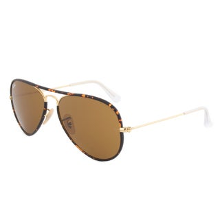 Ray-Ban RB3025JM 001 Havana Gold Aviator Sunglasses