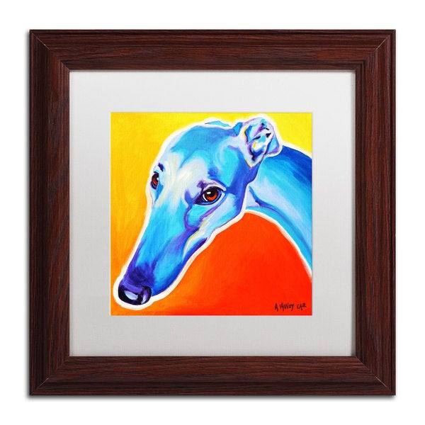 DawgArt 'Lizzie' White Matte, Wood Framed Wall Art