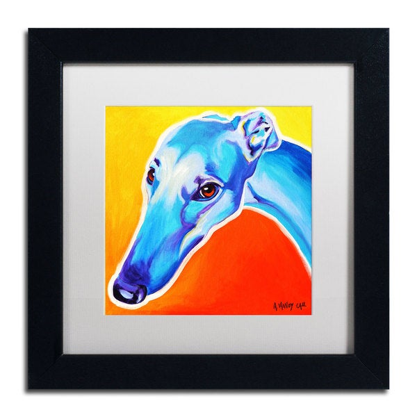 DawgArt 'Lizzie' White Matte, Black Framed Wall Art
