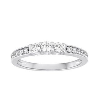 10K 3/8 CTW DIAMOND 3-STONE PROMISE RING (I/J-I2/I3)