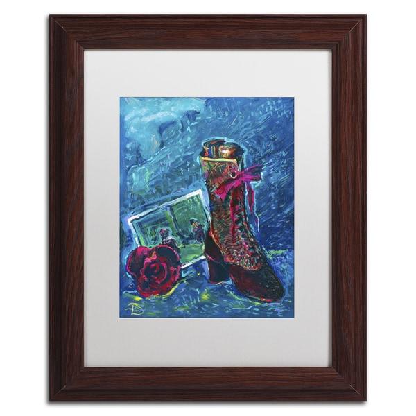Lowell S.V. Devin 'Bon Voyage Bon Bons' White Matte, Wood Framed Wall Art