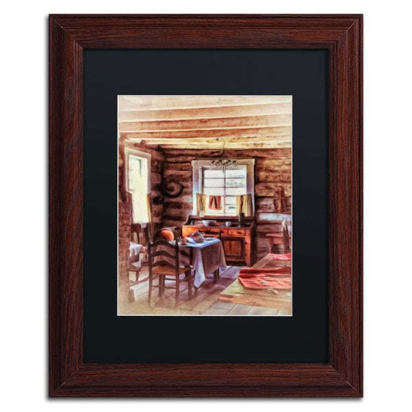Lois Bryan 'The Heart of the Home' Black Matte, Wood Framed Wall Art