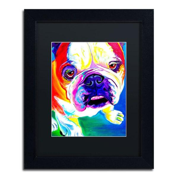 DawgArt 'Stanley' Black Matte, Black Framed Wall Art