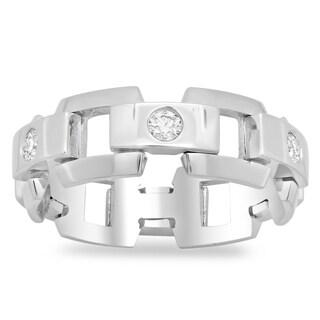 14k White Gold Men's Eternity 3/5ct TDW Diamond Ring (G-H, SI2)
